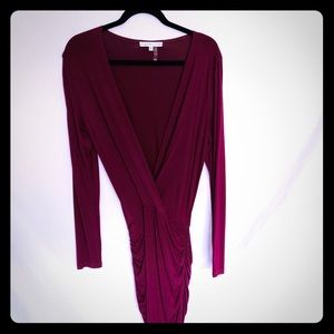 "Young Fabulous & Broke Burgundy ""Lex"" Dress Size L"